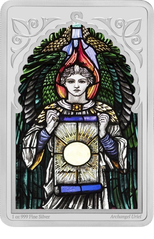 (W160.200.2021.30-00995) 2 Dollars Niue 2021 1 oz Proof silver - Archangel Uriel Reverse (zoom)