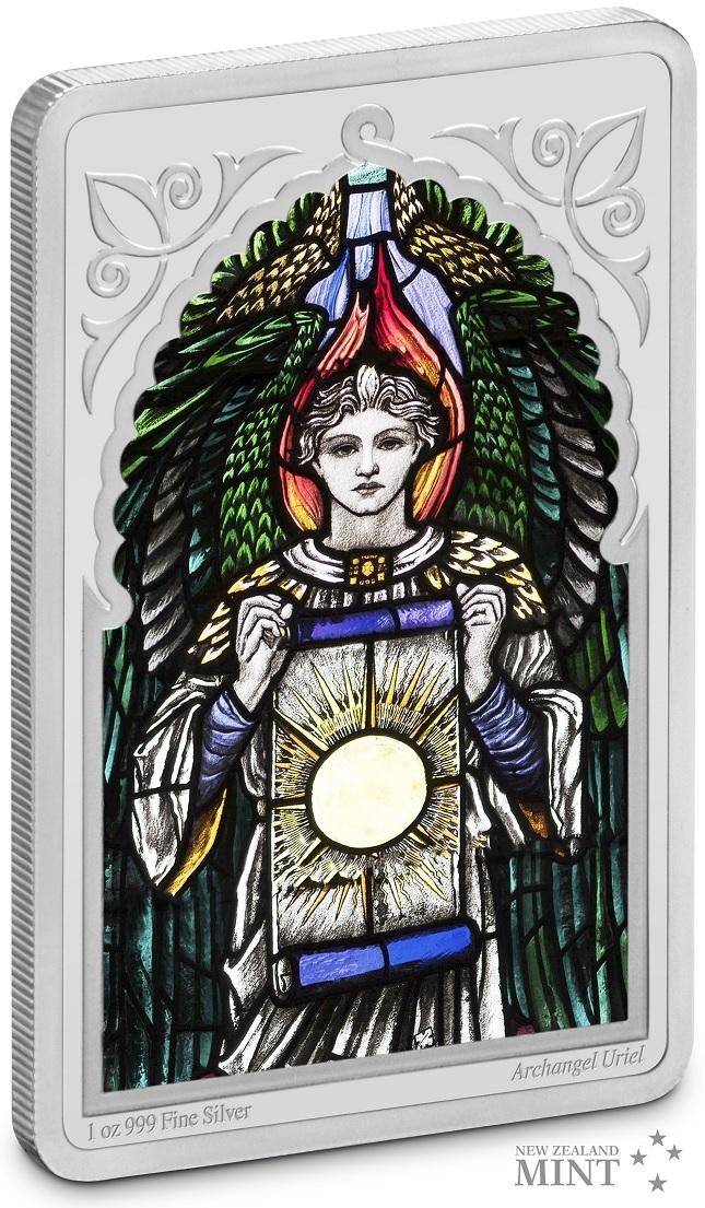 (W160.200.2021.30-00995) 2 Dollars Niue 2021 1 oz Proof silver - Archangel Uriel (edge) (zoom)