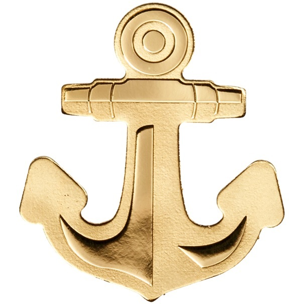 (W168.1.1.D.n.d._2019_.28799) 1 Dollar Anchor 2019 - Silk finish gold Reverse (zoom)