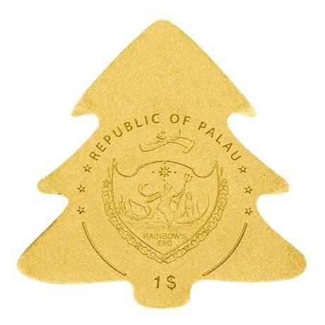 (W168.1.1.D.n.d._2020_.26986) 1 Dollar Sapin de Noël 2020 - Or BU Avers