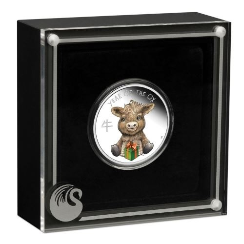 (W228.1.50.C.2021.21G46AAA) 50 Cents Tuvalu 2021 0.50 ounce Proof Ag - Baby ox (case) (zoom)