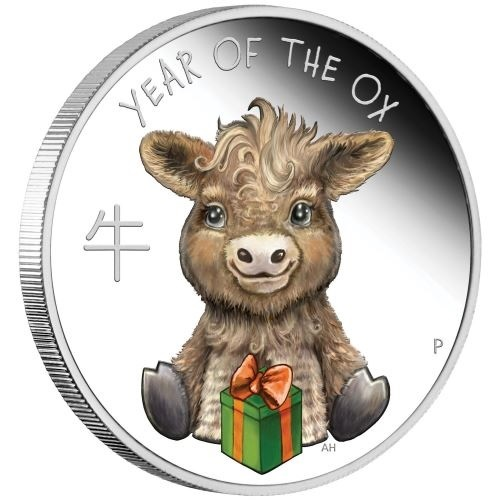 (W228.1.50.C.2021.21G46AAA) 50 Cents Tuvalu 2021 0.50 oz Proof silver - Baby ox Reverse (zoom)