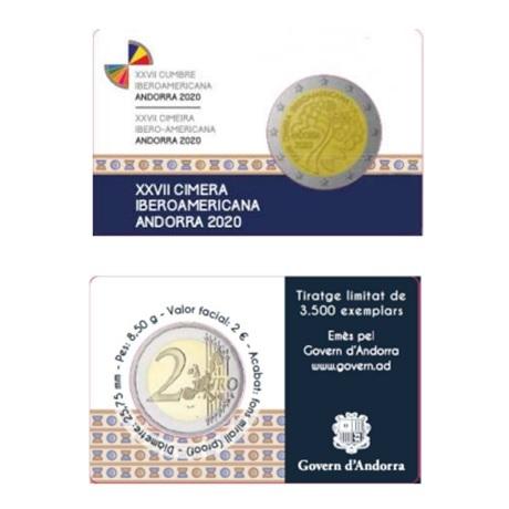 2 euro commémorative Andorre 2020 BE - Sommet ibéro-américain