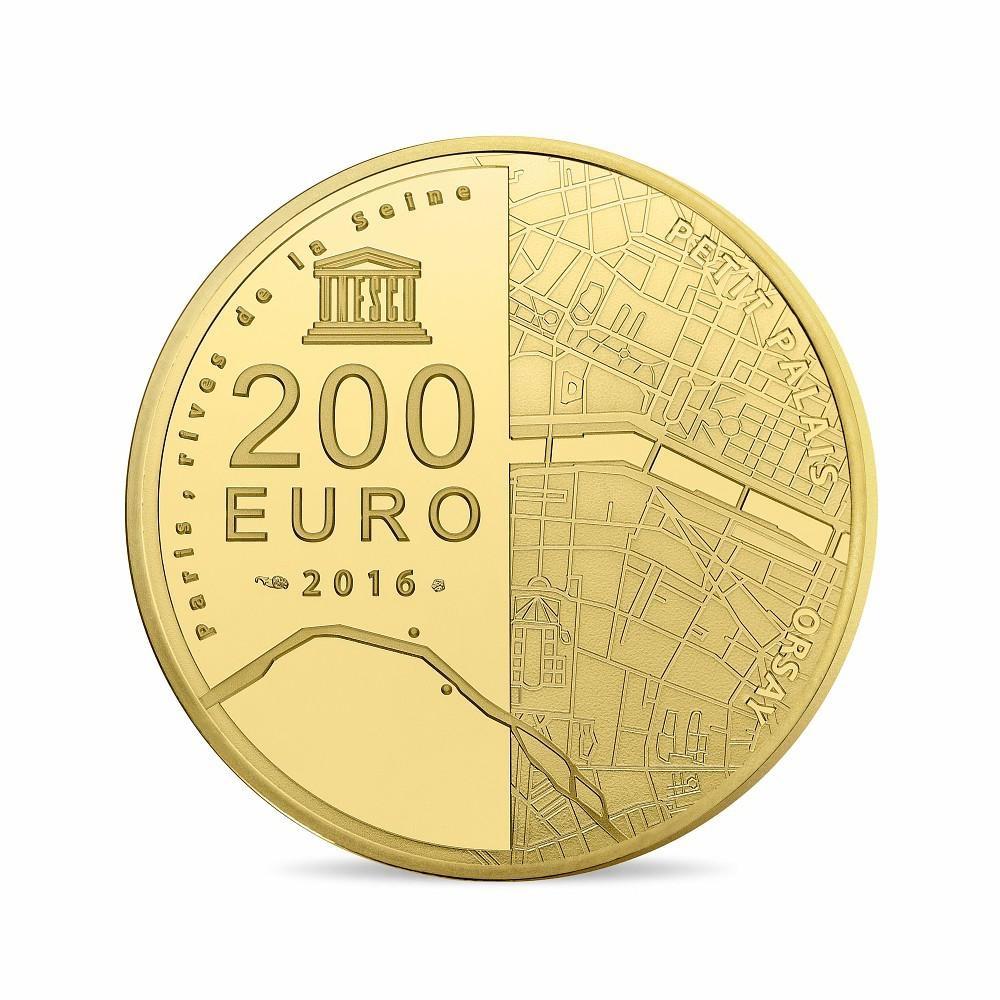 (EUR07.ComBU&BE.2016.10041299740000) 200 euro France 2016 Proof Au - Orsay Museum Petit Palais Reverse (zoom)