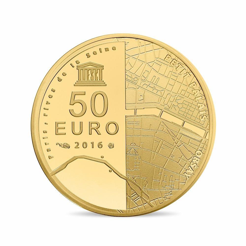 (EUR07.ComBU&BE.2016.10041299750000) 50 euro France 2016 Proof Au - Musée Orsay, Petit Palais Reverse (zoom)