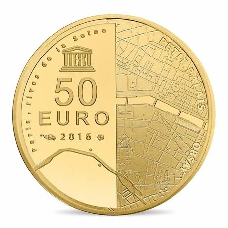 (EUR07.ComBU&BE.2016.10041299750000) 50 euro France 2016 or BE - Musée Orsay et Petit Palais Revers