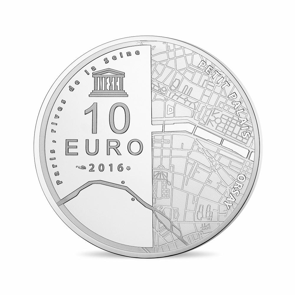 (EUR07.ComBU&BE.2016.10041299780000) 10 euro France 2016 Proof Ag - Orsay Museum, Petit Palais Reverse (zoom)