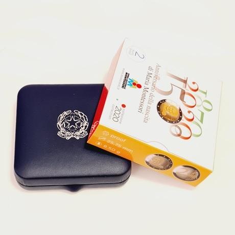 (EUR10.ComBU&BE.2020.48-2MS10-20P004.000000001) 2 euro Italie 2020 BE - Maria Montessori (packaging)