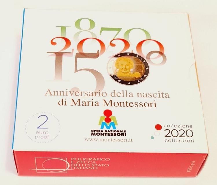 (EUR10.ComBU&BE.2020.48-2MS10-20P004.000000001) 2 euro Italy 2020 Proof - Montessori (box) (zoom)