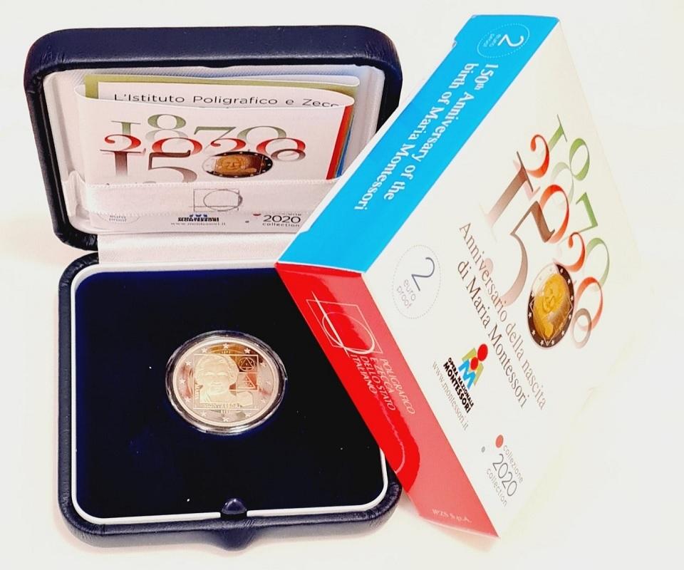 (EUR10.ComBU&BE.2020.48-2MS10-20P004.000000001) 2 euro Italy 2020 Proof - Montessori (case) (zoom)