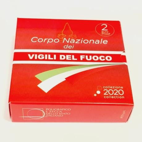 (EUR10.ComBU&BE.2020.48-2MS10-20P005.000000001) 2 euro Italie 2020 BE - Pompiers (boîte)