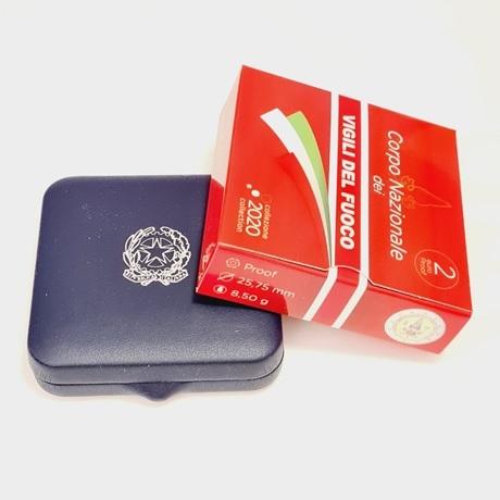 (EUR10.ComBU&BE.2020.48-2MS10-20P005.000000001) 2 euro Italie 2020 BE - Pompiers (packaging)