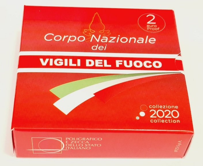 (EUR10.ComBU&BE.2020.48-2MS10-20P005.000000001) 2 euro Italy 2020 Proof - Fire Corps (box) (zoom)