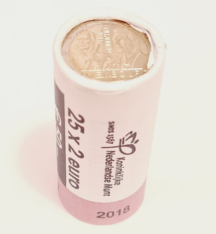 (EUR11.200.2018.roll.COM2.spl.000000001) 2 euro roll Luxembourg 2018 - Guillaume Ist (obverse) (zoom)