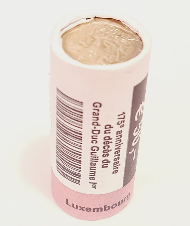 (EUR11.200.2018.roll.COM2.spl.000000001) 2 euro roll Luxembourg 2018 - Guillaume Ist (view on obverse) (zoom)