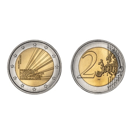 (EUR15.200.2021.12500630) 2 euro commémorative Portugal 2021 - Présidence Conseil UE
