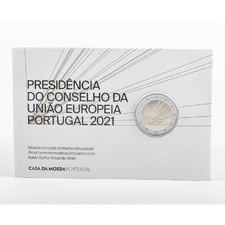 (EUR15.ComBU&BE.2021.1022847) 2 euro commémorative Portugal 2021 BE - Présidence Conseil UE