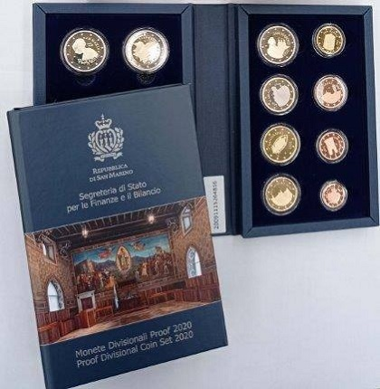 (EUR18.CofBE.2020.330) Proof coin set San Marino 2020 (zoom)