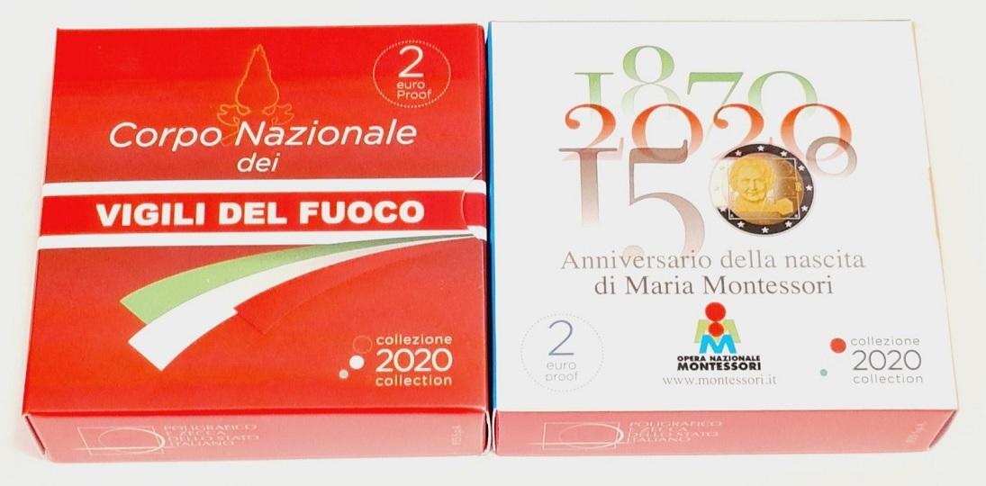 (LOT.EUR10.ComBU&BE.2020.48-2MS10-20P004.&.20P005) Lot 2 euro Italy 2020 - Fire corps & Montessori (boxes) (zoom)