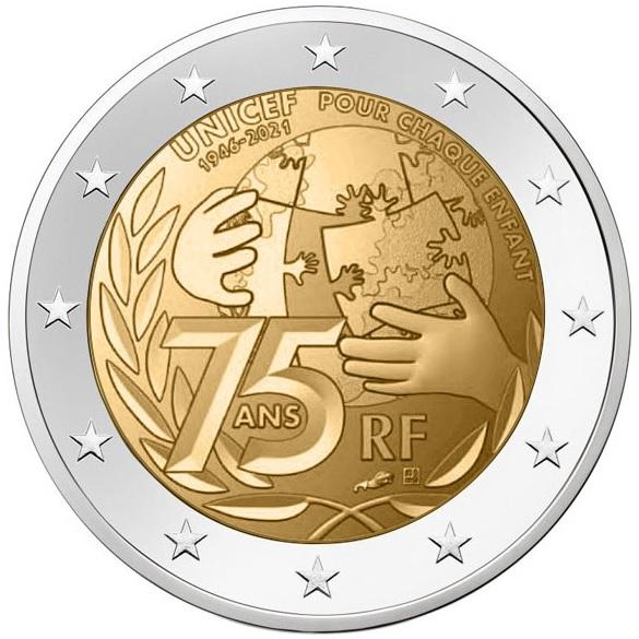 2 euro France 2021 - UNICEF (zoom)