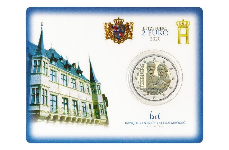 2 euro Luxembourg 2020 BU - Birth of Prince Charles of Luxembourg (zoom)