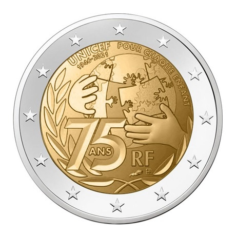 2 euro commémorative France 2021 - UNICEF