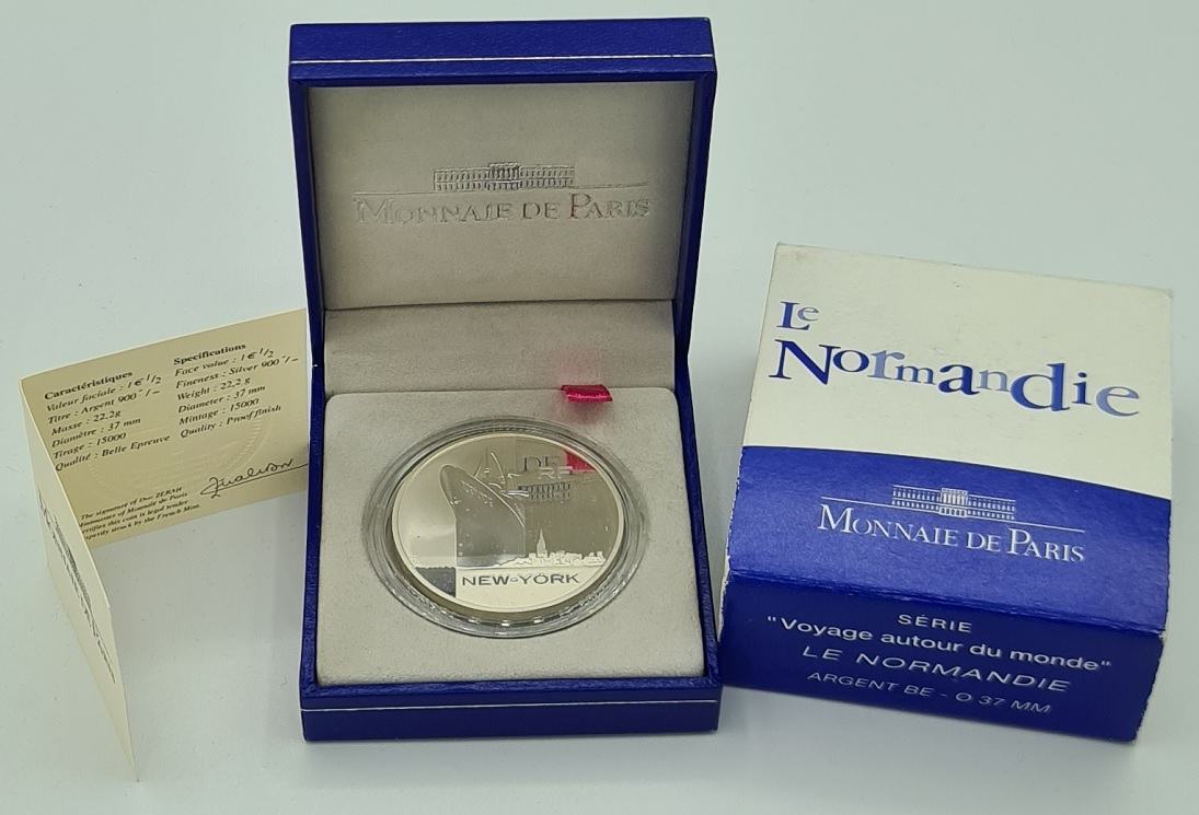 (EUR07.ComBU&BE.2003.10041224580000.000000001) 1.50 euro France 2003 Proof Ag - The Normandy Obverse (zoom)