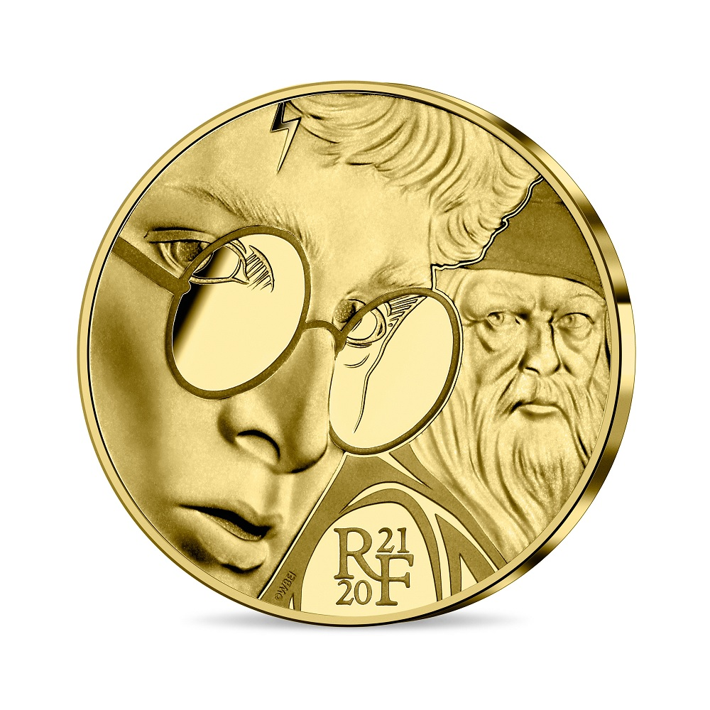 (EUR07.ComBU&BE.2021.10041344300000) 50 euro France 2021 Proof gold - Harry Potter Obverse (zoom)