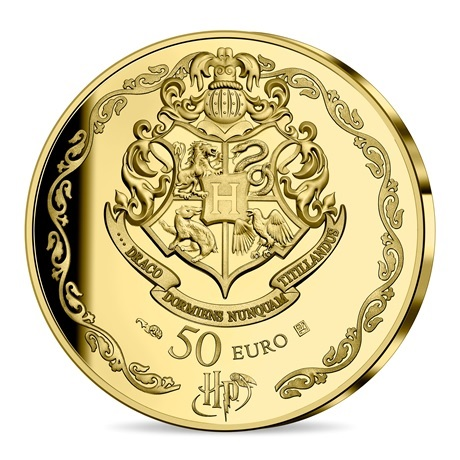 (EUR07.ComBU&BE.2021.10041344300000) 50 euro France 2021 or BE - Harry Potter Revers