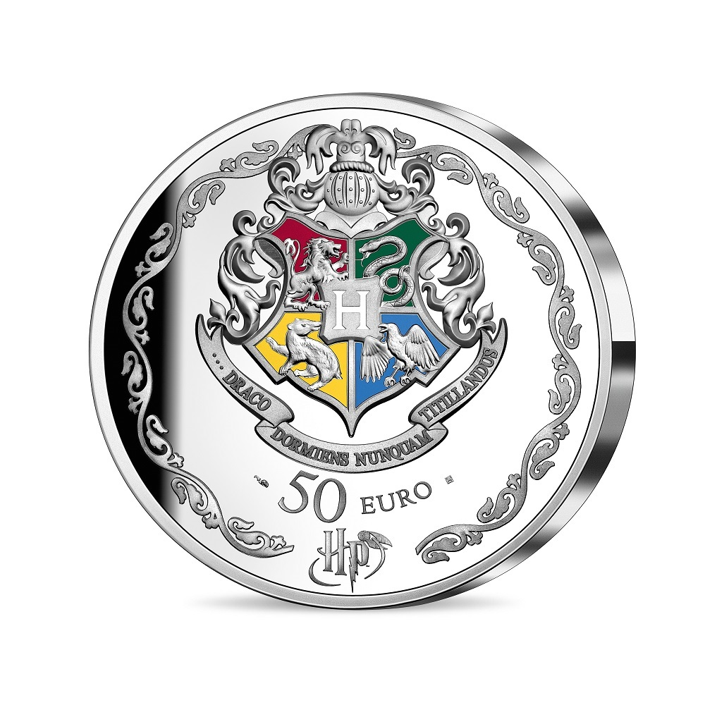 (EUR07.ComBU&BE.2021.10041344310000) 50 euro France 2021 Proof silver - Harry Potter Reverse (zoom)