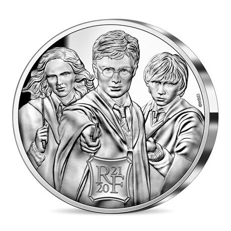 (EUR07.ComBU&BE.2021.10041344310000) 50 euro France 2021 argent BE - Harry Potter Avers