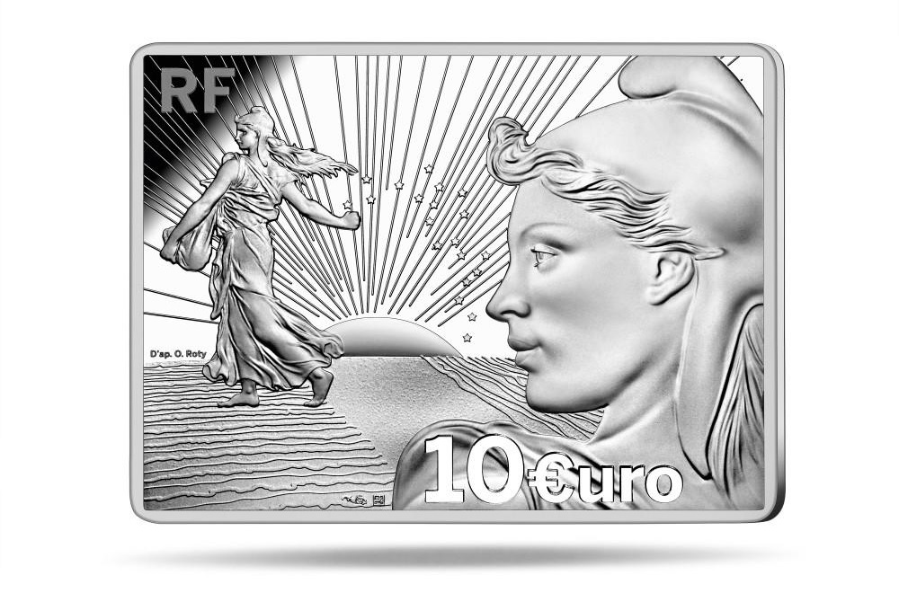 (EUR07.ComBU&BE.2021.10041356210000) 10 euro France 2021 Proof silver - Sower (Starter Kit) Obverse (zoom)
