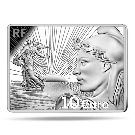 (EUR07.ComBU&BE.2021.10041356210000) 10 euro France 2021 argent BE - Semeuse (Starter Kit) Avers