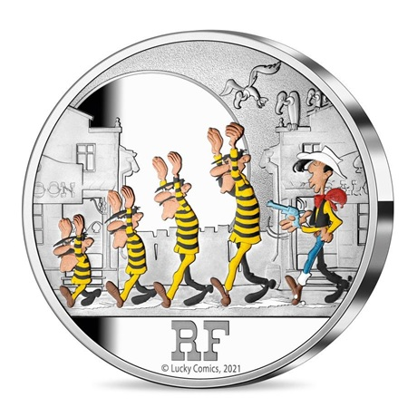 (EUR07.ComBU&BE.2021.10041356260000) 50 euro France 2021 argent BE - Lucky Luke Avers