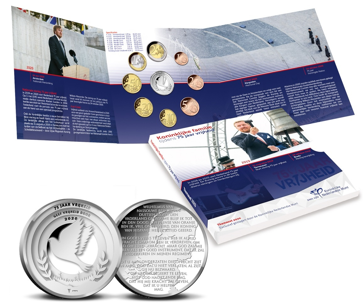 (EUR14.CofBU&FDC.2020.0109281) BU coin set Netherlands 2020 - Peace and freedom (inside) (zoom)
