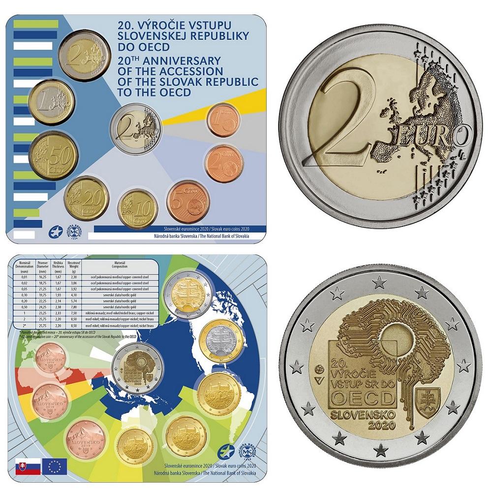 (EUR17.CofBU&FDC.2020.501462) BU coin set Slovakia 2020 (OECD) (inside) (zoom)