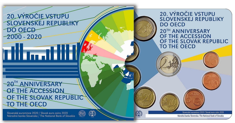 (EUR17.CofBU&FDC.2020.501462) BU coin set Slovakia 2020 (OECD) (zoom)