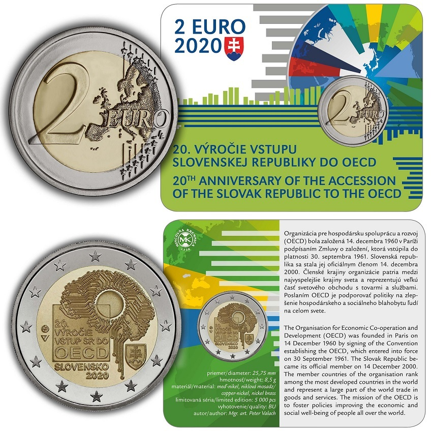 (EUR17.ComBU&BE.2020.501463) 2 euro Slovakia 2020 BU - OECD (card) (zoom)