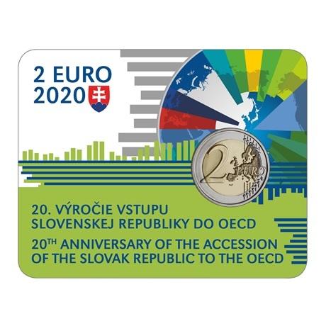 (EUR17.ComBU&BE.2020.501463) 2 euro commémorative Slovaquie 2020 BU - OCDE Recto