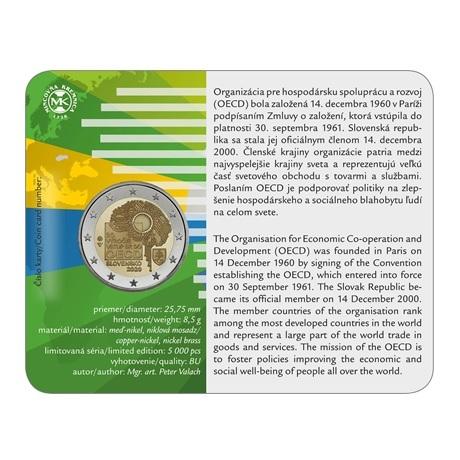 (EUR17.ComBU&BE.2020.501463) 2 euro commémorative Slovaquie 2020 BU - OCDE Verso