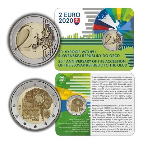 (EUR17.ComBU&BE.2020.501463) 2 euro commémorative Slovaquie 2020 BU - OCDE (carte)