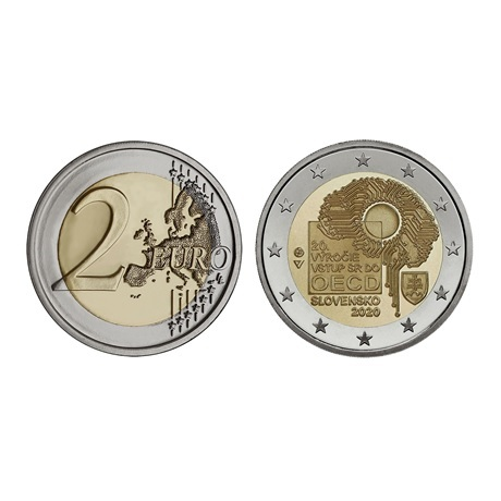 (EUR17.ComBU&BE.2020.501463) 2 euro commémorative Slovaquie 2020 BU - OCDE (pièce)
