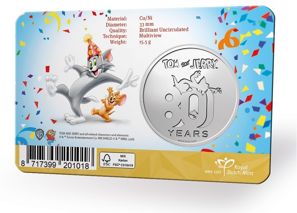 (MED14.Méd.KNM.2020.0110357) Copper-nickel medal- 80 years of Tom & Jerry Back (zoom)