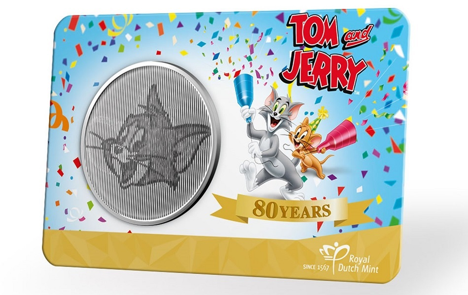(MED14.Méd.KNM.2020.0110357) Copper-nickel medal- 80 years of Tom & Jerry Front (zoom)