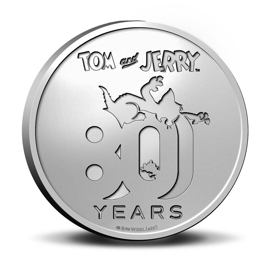 (MED14.Méd.KNM.2020.0110357) Copper-nickel medal- 80 years of Tom & Jerry Obverse (zoom)