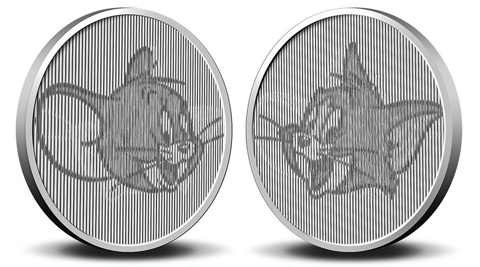 (MED14.Méd.KNM.2020.0110357) Copper-nickel medal- 80 years of Tom & Jerry Reverse (zoom)