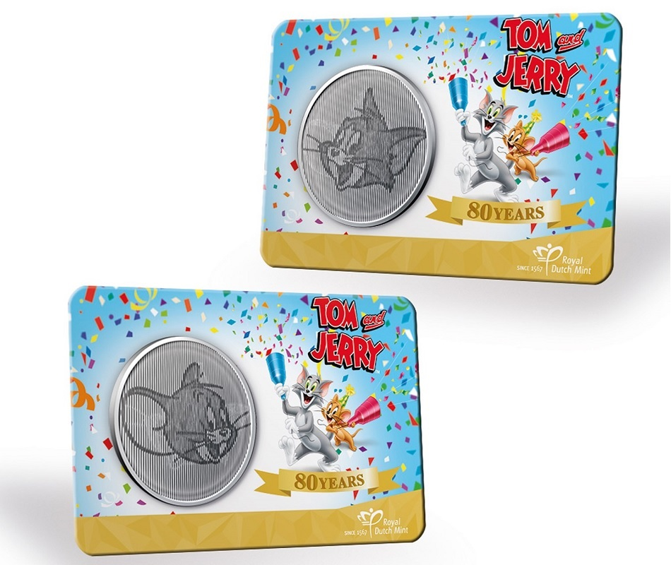 (MED14.Méd.KNM.2020.0110357) Copper-nickel medal- 80 years of Tom & Jerry (card) (zoom)