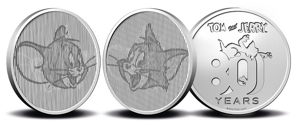 (MED14.Méd.KNM.2020.0110357) Copper-nickel medal- 80 years of Tom and Jerry (zoom)