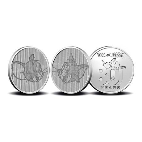 (MED14.Méd.KNM.2020.0110357) Médaille CuNi- 80ème anniversaire de Tom et Jerry (avers et revers)
