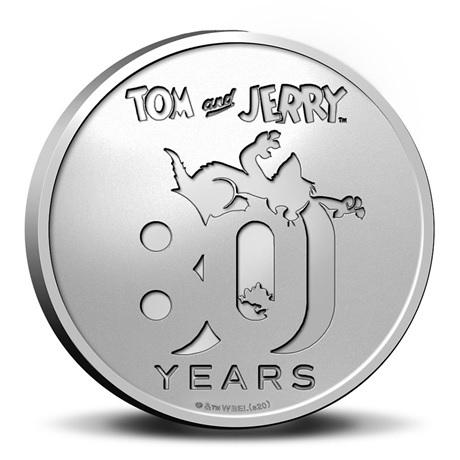(MED14.Méd.KNM.2020.0110357) Médaille cupro-nickel- 80ème anniversaire de Tom et Jerry Avers